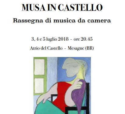 """Tutto pronto per """"Musa in Castello"""" la rassegna di musica da camera in tre serate"""