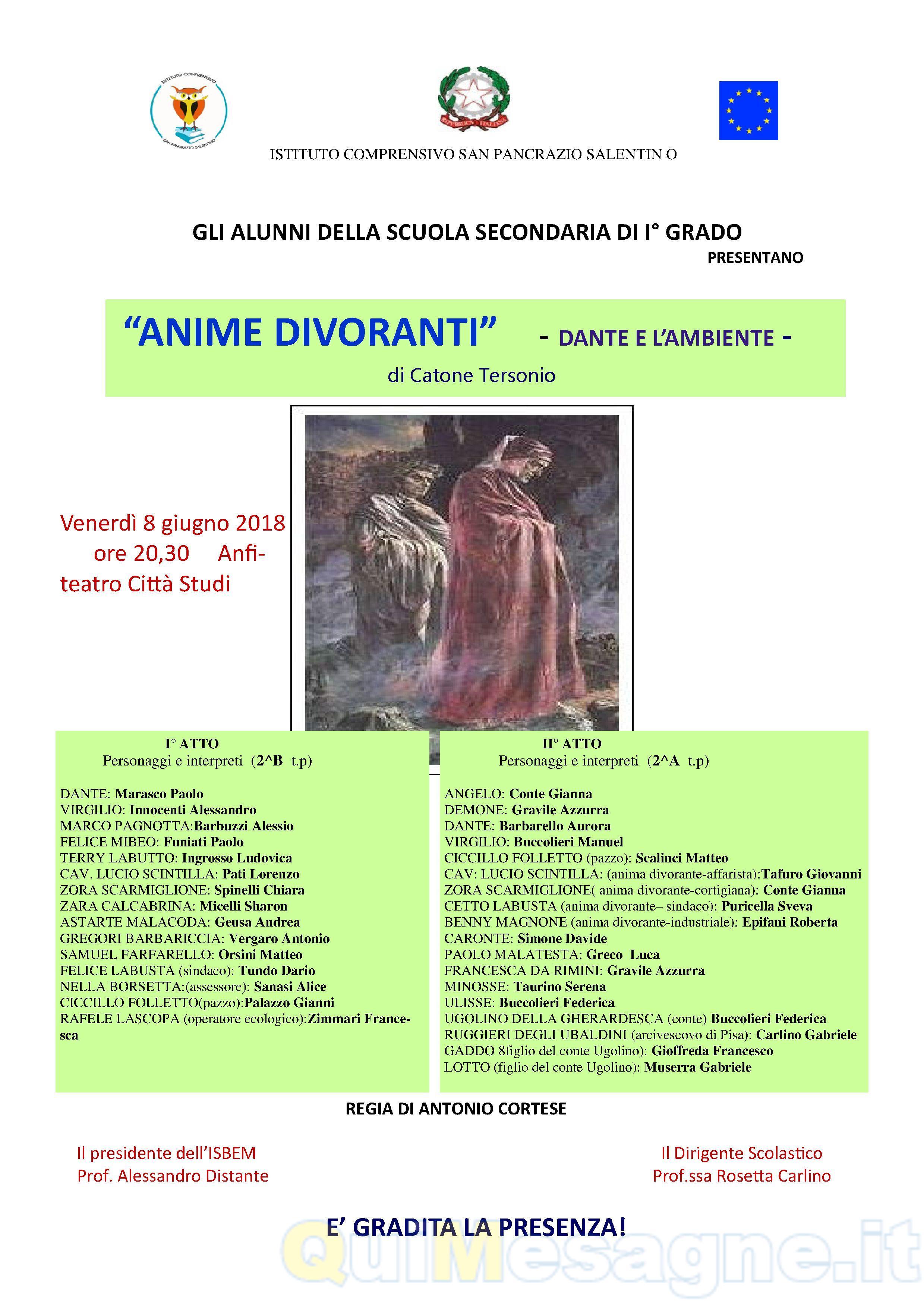 """""""Anime Divoranti"""" il nuovo spettacolo di Catone Tersonio"""