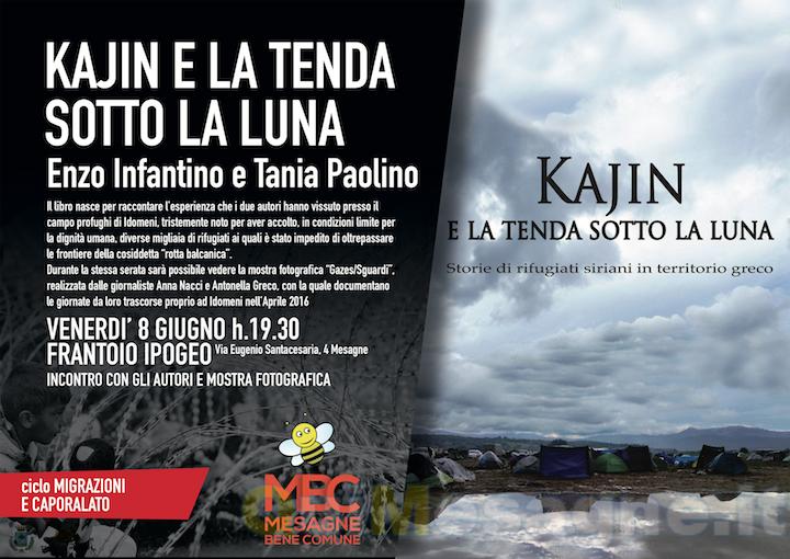 """Mesagne Bene Comune: presentazione del libro """"Kajin e la tenda sotto la luna"""