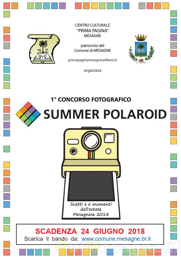 Summer Polaroid, scatta l'Estate Mesagnese 2018 e vinci