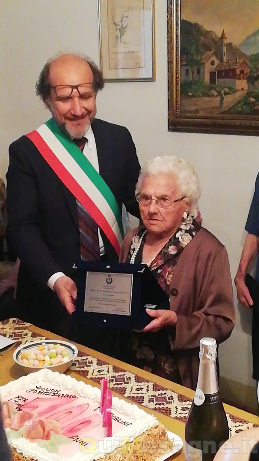 Nonna Pasqualina spegne cento candeline