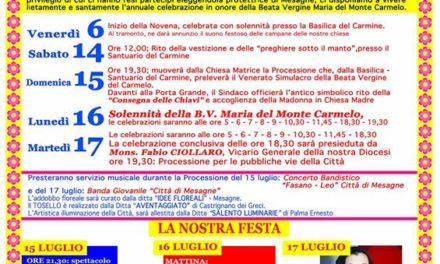 Festa Patronale, ecco gli eventi che QuiMesagne trasmetterà in diretta – MANIFESTO