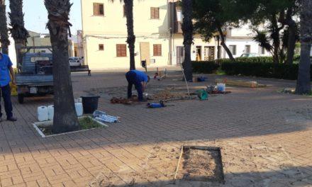Lavori di riqualificazione di Piazzetta Volpe nel rione Grutti