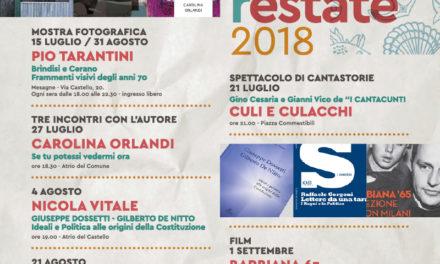 Proseguono le iniziative di #CulturaEstate2018 dell'Associazione Di Vittorio Mesagne