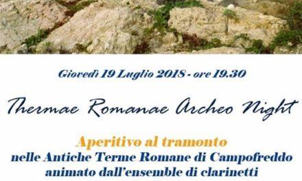 """""""Archeo Night"""", aperitivo e musica alle terme romane di Malvindi"""