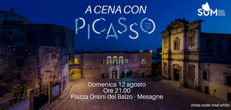 """ECCO IL MENÙ DELLA""""CENACONPICASSO"""", DOMENICA 12 AGOSTO (ore 21)"""