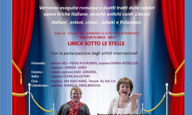 """Martedì 7 agosto in Piazza Orsini del Balzo """"Gran Galà Lirico – Le voci del mondo"""""""