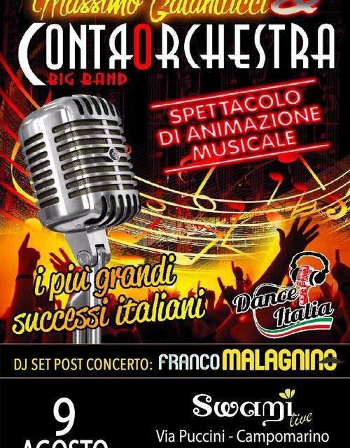 Massimo Galantucci & Controrchestra Big Band in concerto al Swami di Campomarino di Maruggio