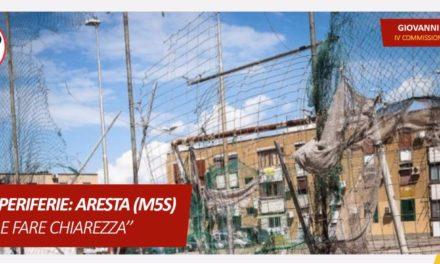 BANDI PERIFERIE: ARESTA (M5S) È UTILE FARE CHIAREZZA