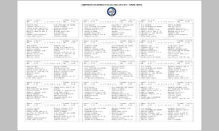 Ecco il calendario dell'Eccellenza per il Mesagne Calcio