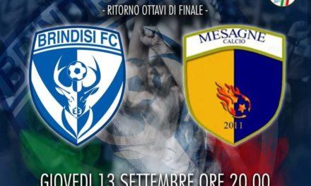 Coppa Italia Eccellenza, giovedì il ritorno a Brindisi