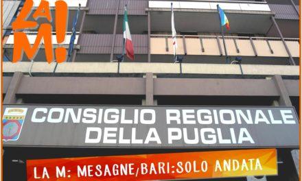 """La M: """"Mesagne/Bari solo andata"""" e chiede confronto con Vizzino"""