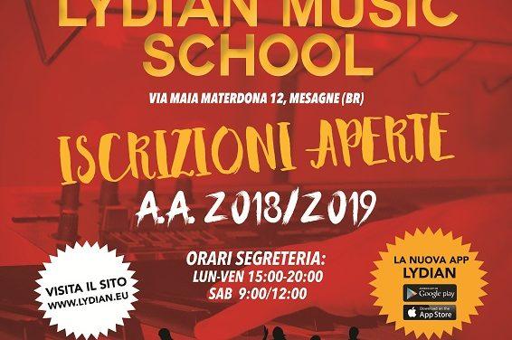 Riaprono le iscrizioni alla Lydian Music School