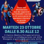 Martedì 23 ottobre donazione nel Centro Polispecialistico Devicienti