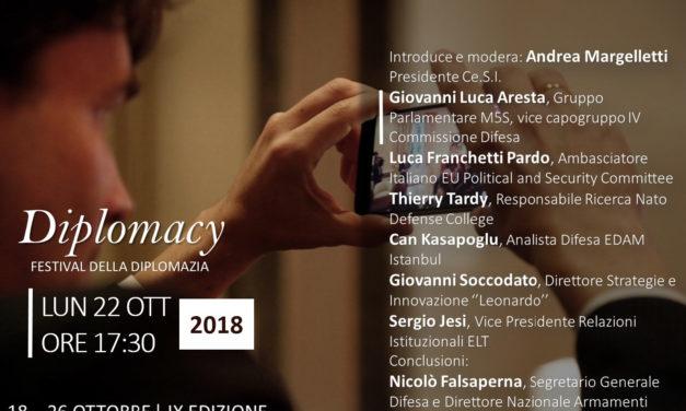 """L'on. Giovanni Luca Aresta tra i relatori del convegno """"Ricerca e sviluppo per una comune difesa europea"""""""
