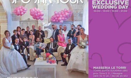 Torre S. Susanna: Dieci anni di Sposi in Tour Exclusive Wedding Day. Domenica 28 Ottobre alla Masseria Le Torri