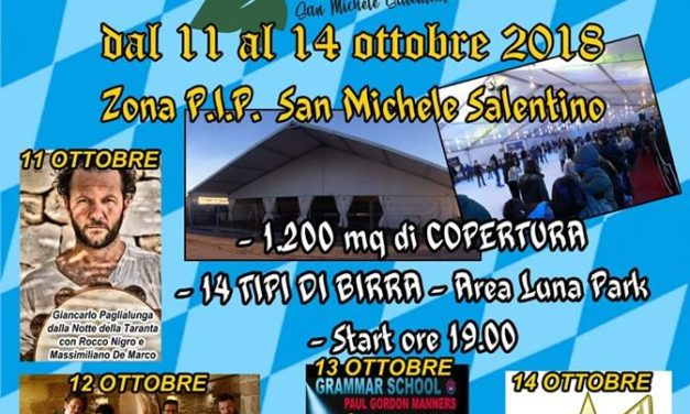 Arriva a San Michele Salentino la prima edizione di Oktober Fesct