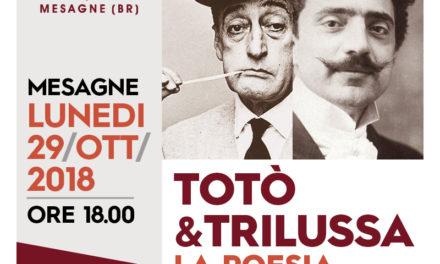 Lunedì 29 ottobre alla Di Vittorio c'è: TOTO' e TRILUSSA