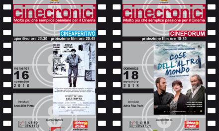 """""""Cinecronici"""", la rassegna per appassionati cinefili"""