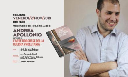 """Venerdì 9 Novembre Andrea Apollonio presenta """"L'arte borghese della guerra proletaria"""""""