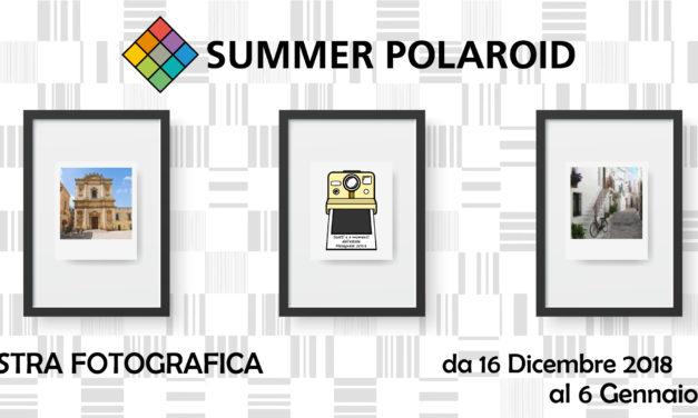 Concorso fotografica Summer Polaroid. Domenica 16 dicembre la premiazione