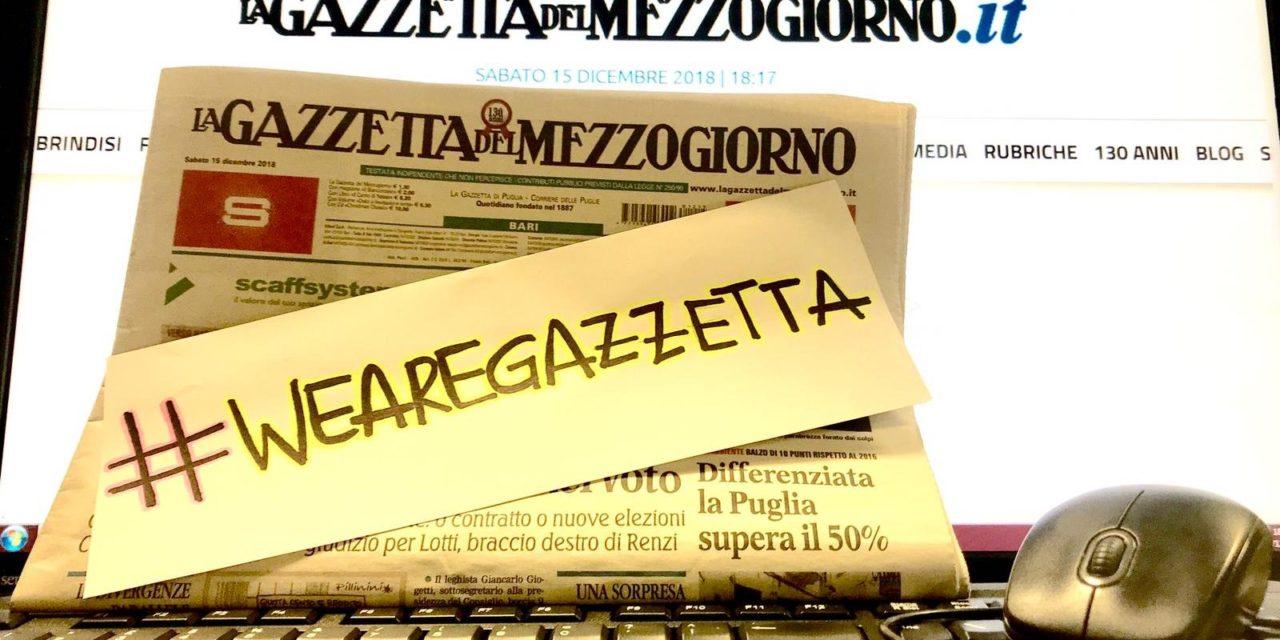 #salviamolagazzettadelmezzogiorno l'appello della Cittá di Mesagne