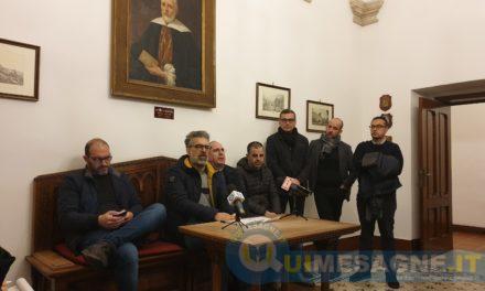 Conferenza stampa della maggioranza che ha rassegnato le dimissioni