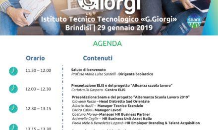 """Il progetto SNAM per l'Istituto I.T.T. """"G. Giorgi"""" di Brindisi"""