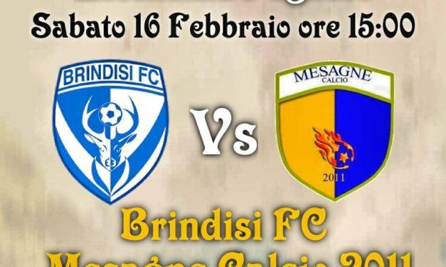 Mesagne Calcio 2011, sabato c'è il derby col Brindisi