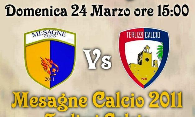 Mesagne Calcio 2011 col Terlizzi primo match point per la salvezza