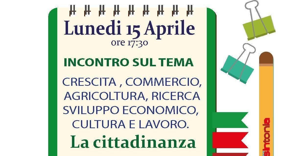 """""""Insintonia"""", incontro con la città su sviluppo, lavoro e cultura"""