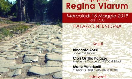 "Mercoledì 15 maggio convegno ""Appia Regina Viarum"""