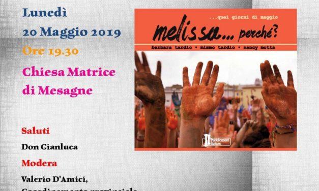 «Melissa… perché»: Libera Mesagne presenta il libro che racconta una tragedia